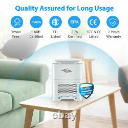 2Pack H13 HEPA Air Purifier for Large Room 226SQFT Tabletop Air Cleaner 3-Stage