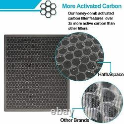 2Pcs Air Purifier withH13 HEPA filter 5stage Filtration System Quiet Floor Cleaner