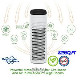 2xSmart Air Purifier Large Room 825ft², 3Stage Filtration Remove 99.99%Odor/Smoke