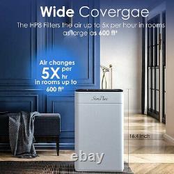 4Stage Air Purifier Large Room, H13True HEPA Filter Cleaner Quiet Odor Eliminator