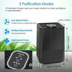 5-stage Air Purifier with Pre, True HEPA filter, Active Carbon Ionizer