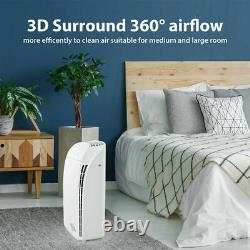 5Stage Air Purifier Cleaner Extra-Large Rooms with4x Medical Grade H13 HEPA Filter