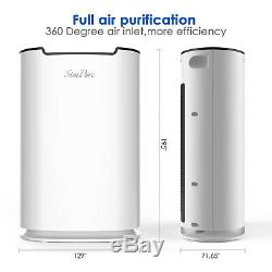 5Stage Air Purifier Home Cleaner Ture HEPA Filter to Remove Odor Dust Mold Smoke