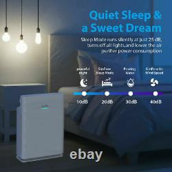 5Stage Air Purifier for Large Room Quiet True HEPA Filter Air Cleaner 24dB HP3-A