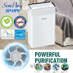 900SqFt Air Purifier Powerful Cleaner Quiet H13 True HEPA Filter for Smoke Dust