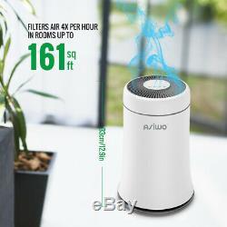 Air Purifier Cleaner True HEPA Desktop Home Filter Smoke Dust Odor Remover Quiet