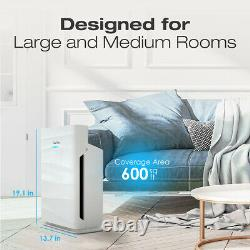 Air Purifier H13 True Hepa Filtration Allergen Reduction Home Large Room Cleaner