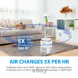 Air Purifier Indoor Air Cleaner 360° Purification HEPA Filters for Large Room US