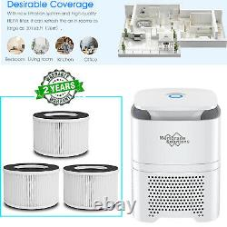 Air Purifier Indoor Air Cleaner with 3in1 True HEPA Filter for Home Office Odor