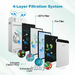 Air Purifier, Smart Air Cleaner with 3-in-1 True HEPA and Activated Carbon