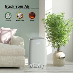 Air Purifier True HEPA Filter Air Cleaner Odor Allergies Eliminator Whole House