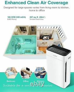 Air Purifier for Home Allergies&Pets, H13 True HEPA Filter Air Cleaner 300Sq. Ft