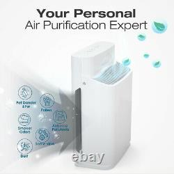 Air Purifier for Pet, Smoker, Odor Large Room Air Cleaner 5-Stage True HEPA Filter