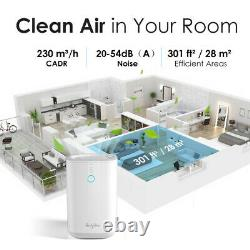 Air Purifiers for Large Room Allergies Pet Hair Smoker, 2pc True H13 HEPA Filter