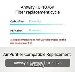 Amway 10-1076K/10-3832K Air Purifier Filter Replacement 1 Year Set (HEPA+Carbon)