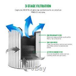 Asiwo Air Purifier for Home Smoke Dust Odor True HEPA Filter 3in1 Bedroom Office