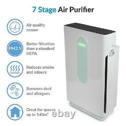 ElectriQ 7-stage anti-viral Air Purifier with Air Quality Sensor and True HEPA