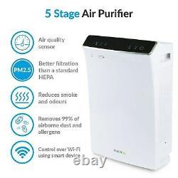 ElectriQ Antiviral Alexa-enabled WiFi Air Purifier with HEPA Car EAP500HCUV-WIFI