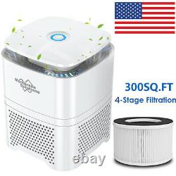 For Large Room Office True HEPA Filter Air Purifier Remove Smoke Allergies Odors