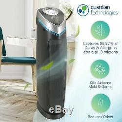 GermGuardian AC5000E 3-in-1 Air Purifier with True HEPA Filter, UV-C Sanitizer