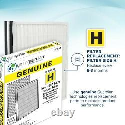GermGuardian AC9200WCA Hi-Performance Air Purifier with HEPA Filter and UVC