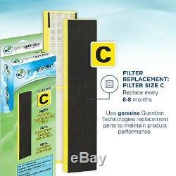 GermGuardian CDAP5500BCA WiFi Smart 4-in-1 Air Purifier with HEPA Filter, UV
