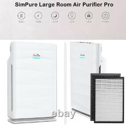 H13 HEPA Air Purifiers for Home Large Room Air Cleaner for Allergies Smoke 24dB