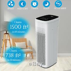 H13 True HEPA Air Purifier Filter Air Cleaner Remove Smoke Allergies Large Room