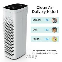 H13 True HEPA Air Purifier for Home Large Room Air Cleaner for Allergies Smoke