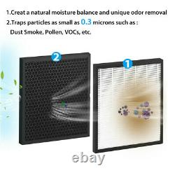HP3-A Large Room Air Purifiers HEPA Home Air Purifier Air Cleaner for Allergies