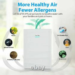 HP3-A True HEPA Air Purifier Large Room Air Cleaner 5-Stage Washable Pre-filter