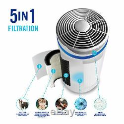 HoMedics 5 in 1 TotalClean Air Purifier with Hepa + UV Allergy Filtration AP-T40