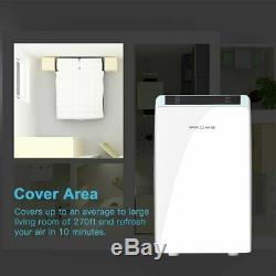 Home Air Cleaner Purifier HEPA Filter Smoke Eater Indoor Dust Remove WF