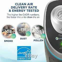 Home Indoor True HEPA Filter Air Purifier Home Office Bedrooms Filters Allergies