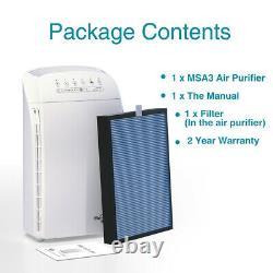 Home Office Air Purifier True HEPA Large Room Air Cleaner for Pet Allergies Dust
