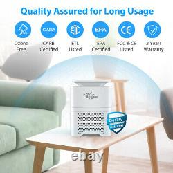 Home Room Air Purifiers True HEPA Filter Air Cleaner Odor Allergies Mold Remover