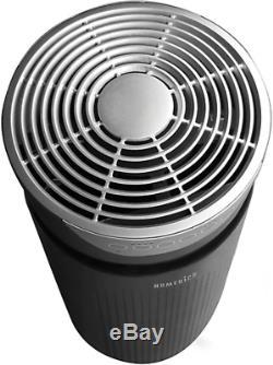 Homedics TotalClean 5-in-1 Tower HEPA Air Purifier in Black