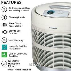 Honeywell True HEPA Air Purifier/Odor Reducer, 50250-S, White