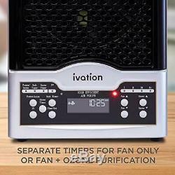 Ivation 5-in-1 HEPA Air Purifier Ozone Generator, Ionizer Deodorizer 3,700 Sq/Ft