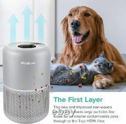 LEVOIT Pet Care True HEPA Air Purifier for Home Allergies Dust Lint 24dB Quite