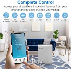 LEVOIT Smart WiFi Air Purifier for Home Large Room with True HEPA Filter, Air for