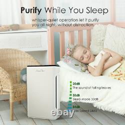 Large Room Air Purifier 3Stage H13 True HEPA Air Cleaner for Allergies Smoke Pet