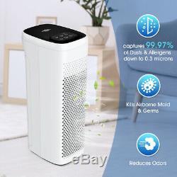 Large Room Air Purifier 4 Stage H13 HEPA Air Cleaner Allergies Eliminator Smoke