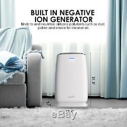 Large Room Air Purifier Home HEPA Air Cleaner Allergies Eliminator Smoke Remover