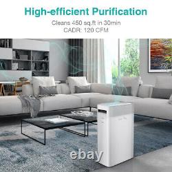 Large Room Air Purifier Mdeical Grade HEPA Home Air Cleaner for Allergen Smoke