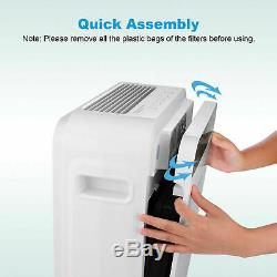 Large Room Air Purifier Office Air Cleaner HEPA Filter Remove Odor Dust Mold//