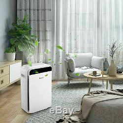 Large Room Air Purifier True HEPA Filter 5-Speed Fan Air Cleaner 2020 HOT SALE