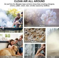 Large Room Air Purifiers HEPA Filter Air Purifier Home Air Cleaner for Allergies