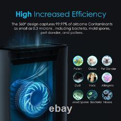 Large Room Air Purifiers Home True HEPA Air Cleaners Allergies Smoke Eliminator