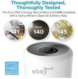Levoit Air Purifier for Home Allergies Pets Hair Smokers H13 True HEPA, Core 300